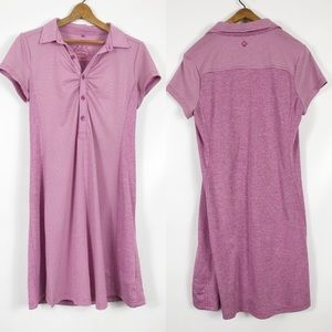 PRANA | casual shirt dress polo pink athletic 0040